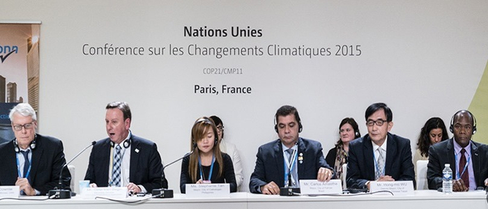 "UNFCCC side event ""Compact of Mayor"" at COP21 (photo by IISD/ENB)"